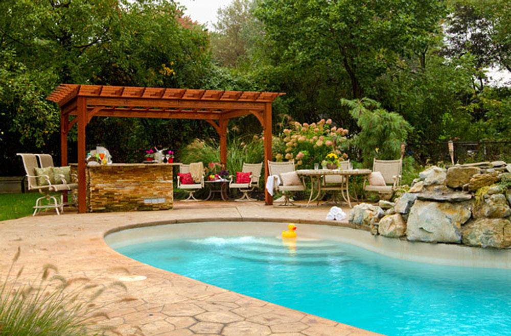 Backyard Pergola With Pool