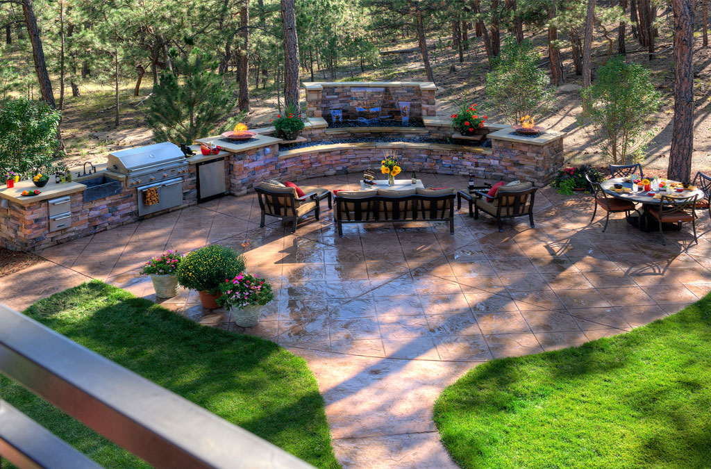 Beautiful Stamped Concrete Patio