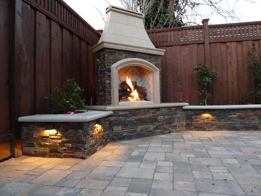 Outdoor Propane Fireplace Corner