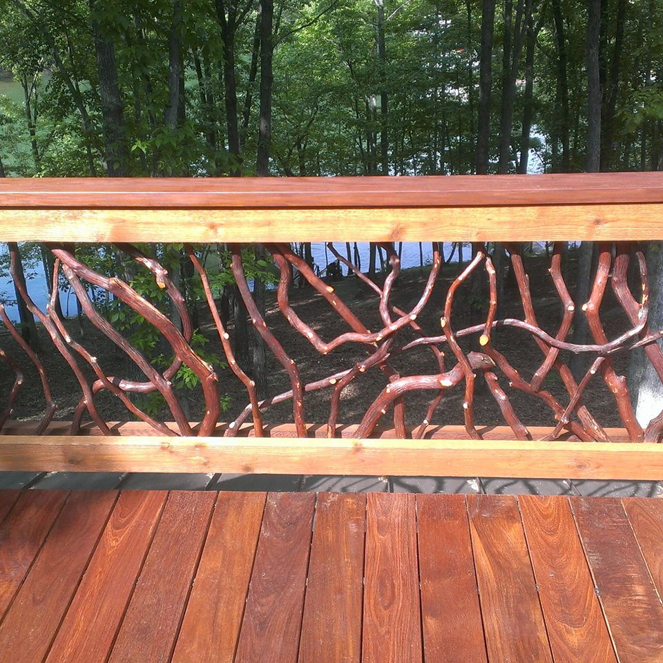 Pictures Of Twig Rustic Railings For Decks