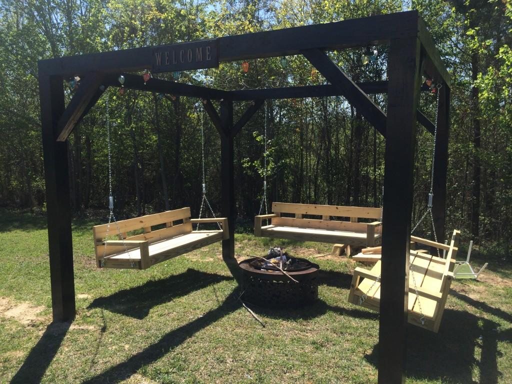 Rustic Backyard Swings