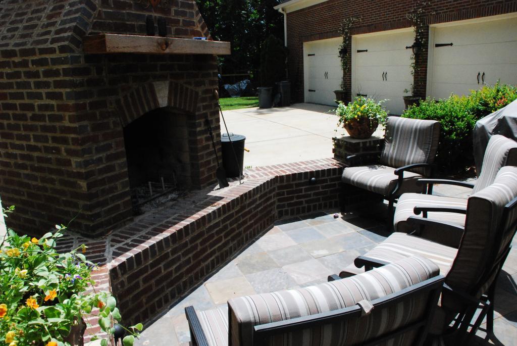 Wood Burning Outdoor Fireplace Backyard