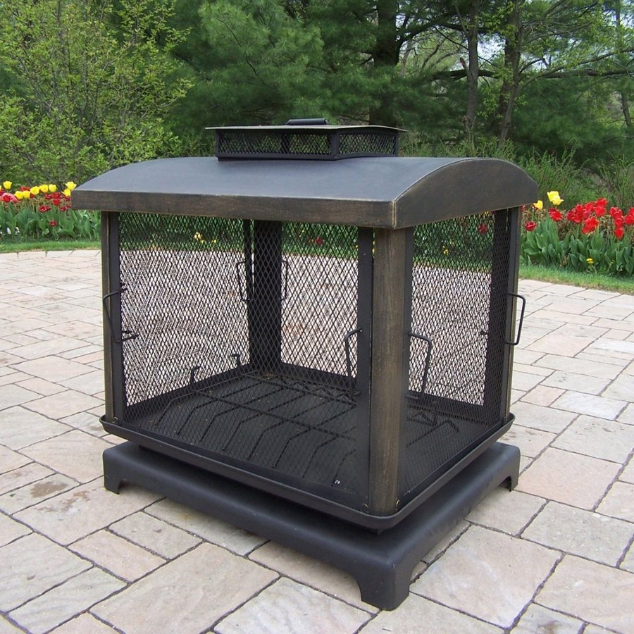 Wood Burning Outdoor Fireplace Box Net