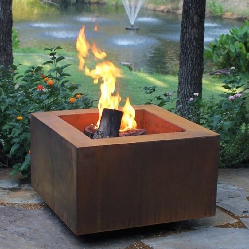 Wood Burning Outdoor Fireplace Box