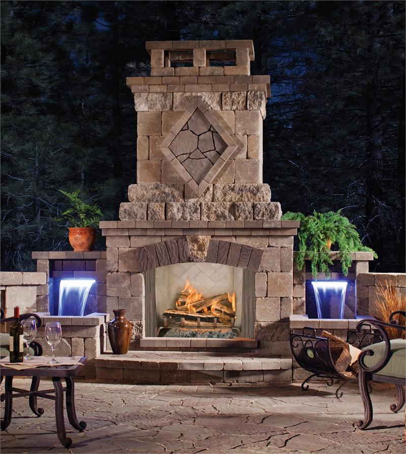 Wood Burning Outdoor Fireplace Garden