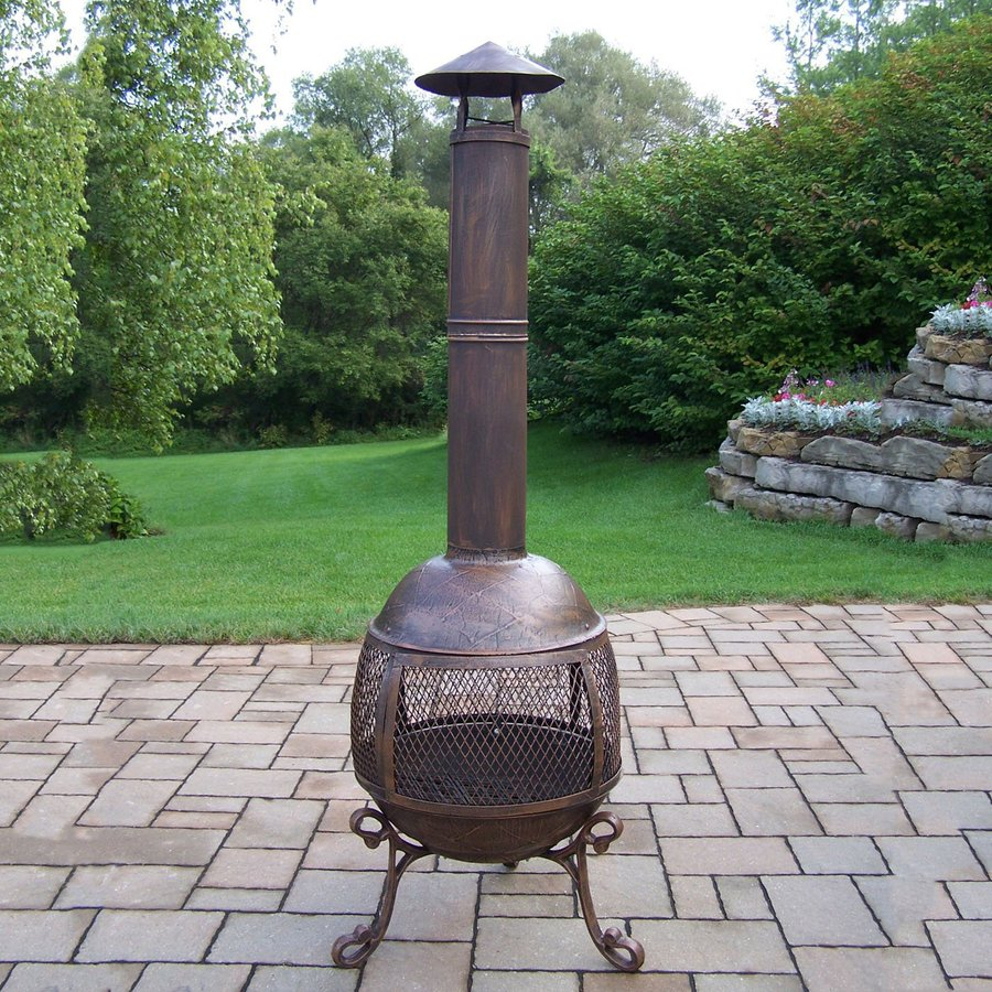 Wood Burning Outdoor Fireplace Long Iron