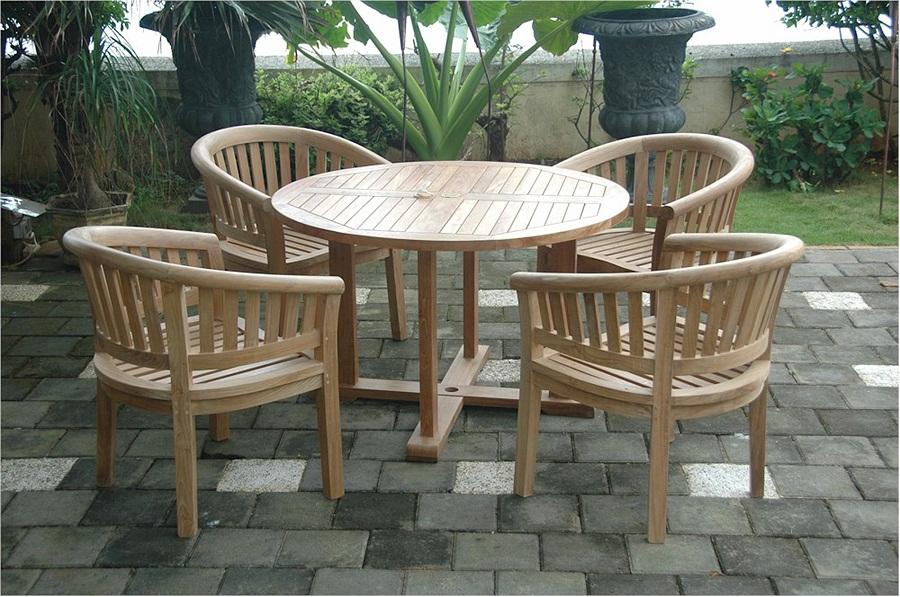 Wooden Teak Outdoor Dining Set