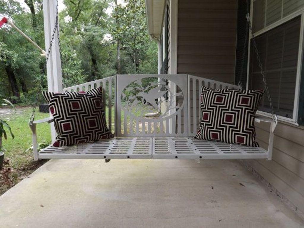 Antique Metal Porch Swing