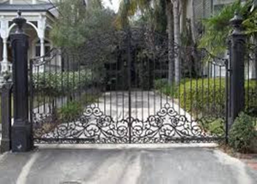 Artificial Wrought Iron Driveway Gates