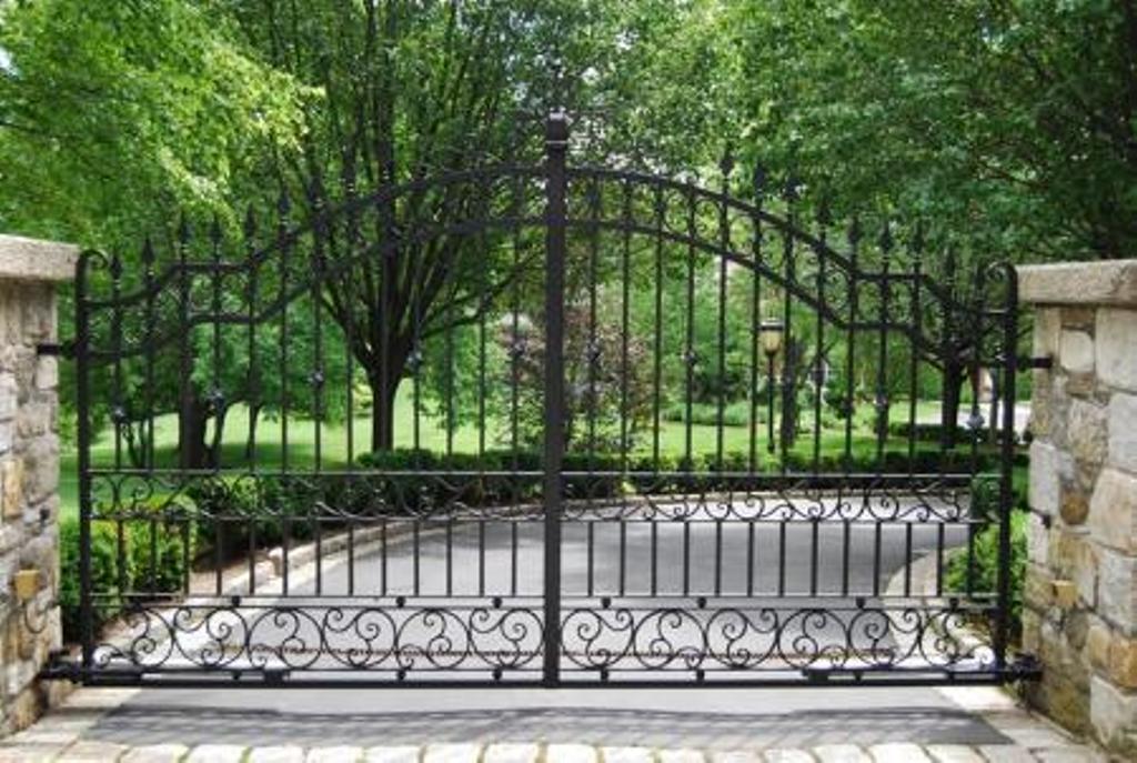Automatic Wrought Iron Driveway Gates