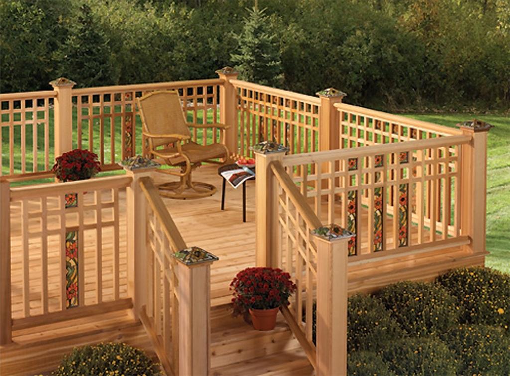 Cedar Deck Railing Designs Rickyhil Outdoor Ideas