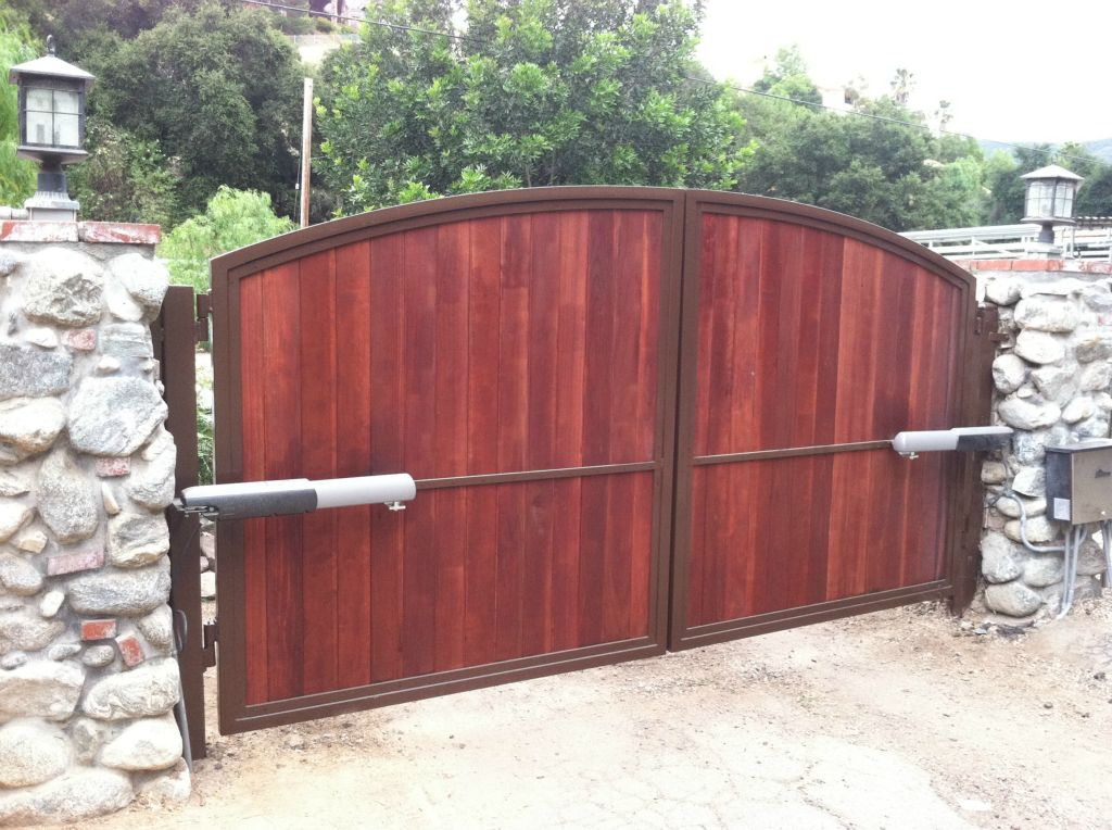 Electric Driveway Gates Wood Fence