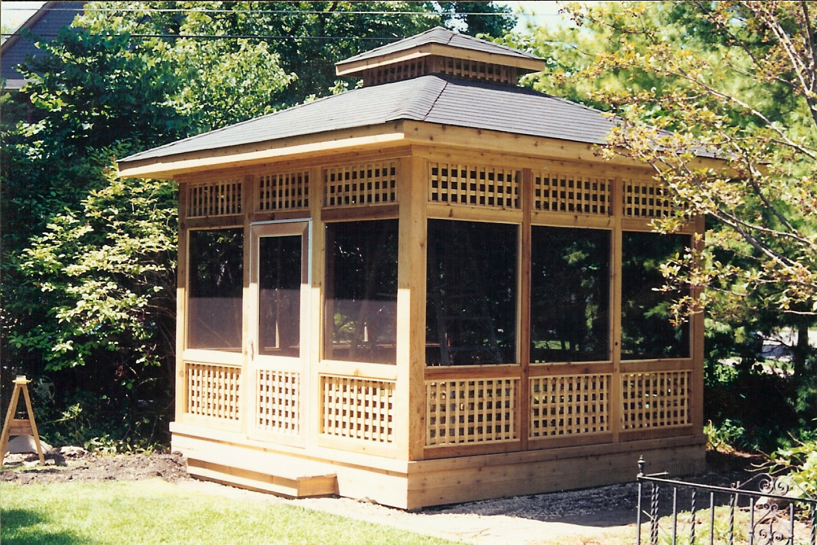 Gazebo Roof Square Screened