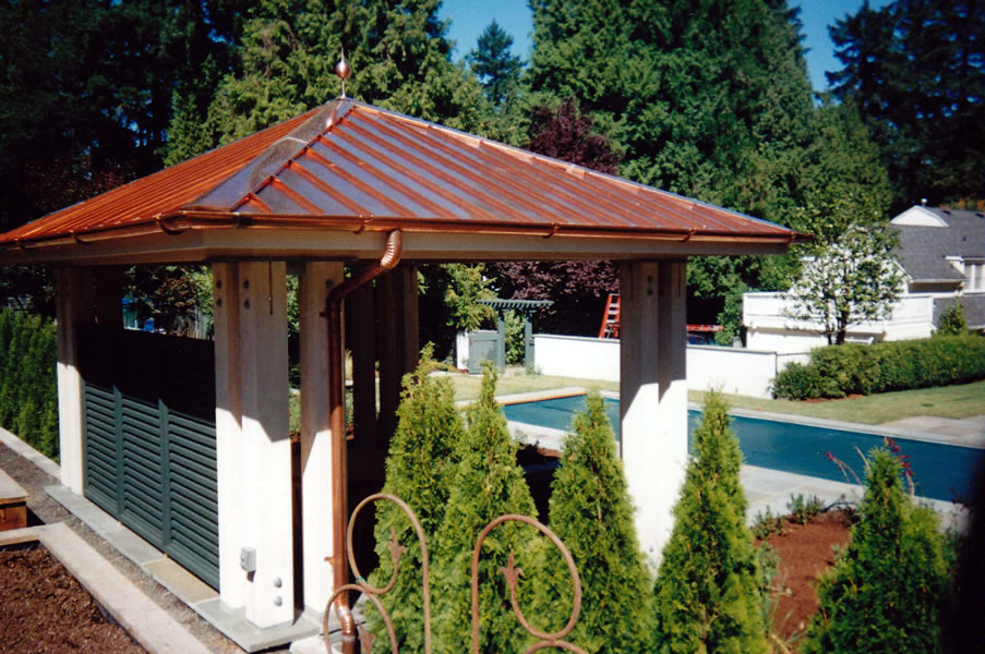 Gazebo Roof With Metal