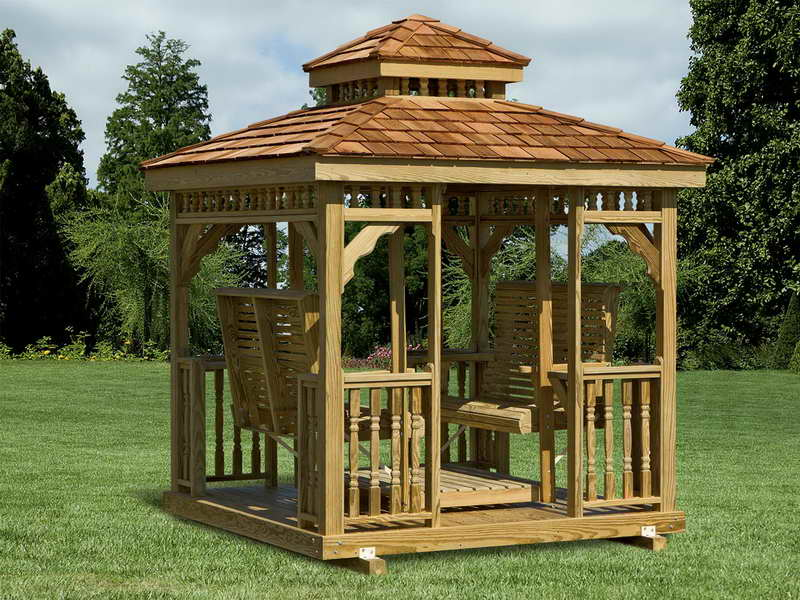 Gazebo Roof With Swing