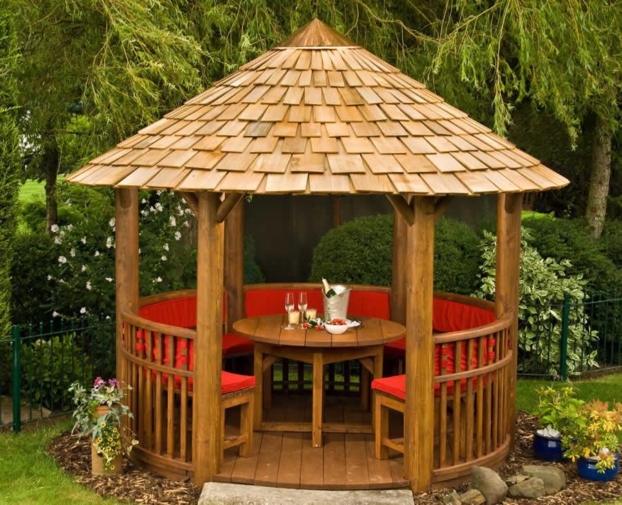 Gazebo Roof Wooden Style