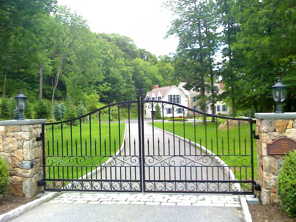 Privacy Wrought Iron Driveway Gates And Metal