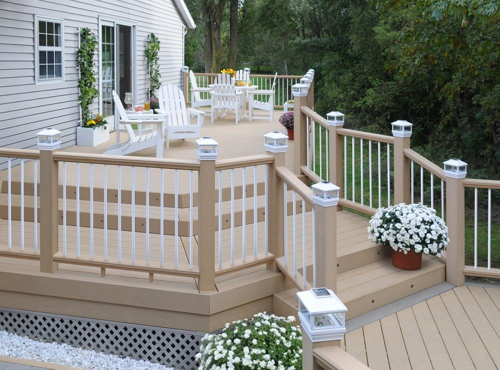 White Deck Railing System