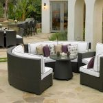 Home Design Captivating Sectional Dining Set Wicker Outdoor