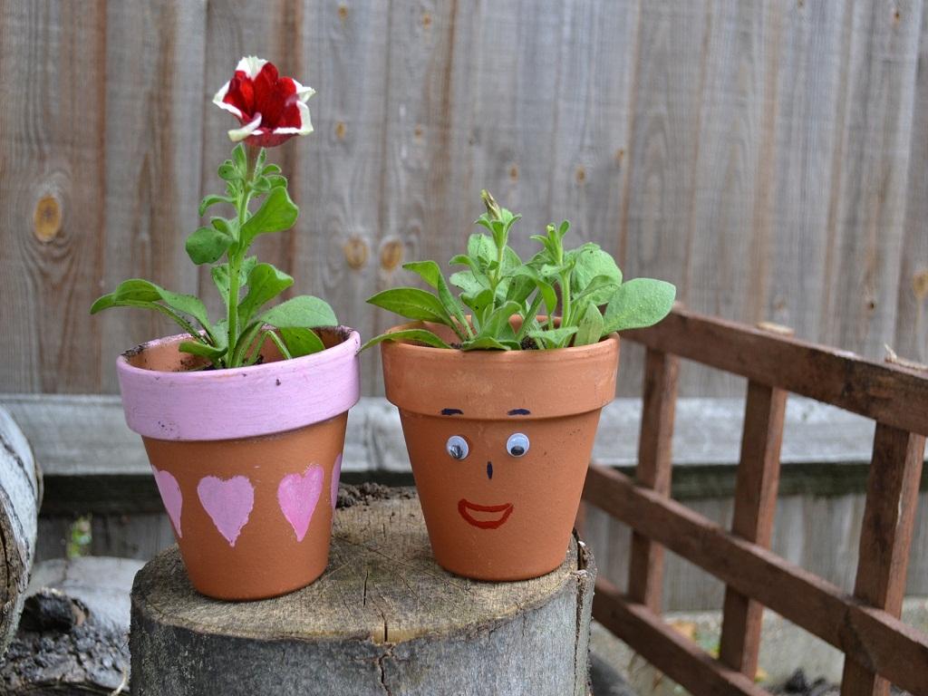 Flower Pot Painting Ideas For Kids
