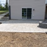Fresh Laying Patio Pavers On Grass