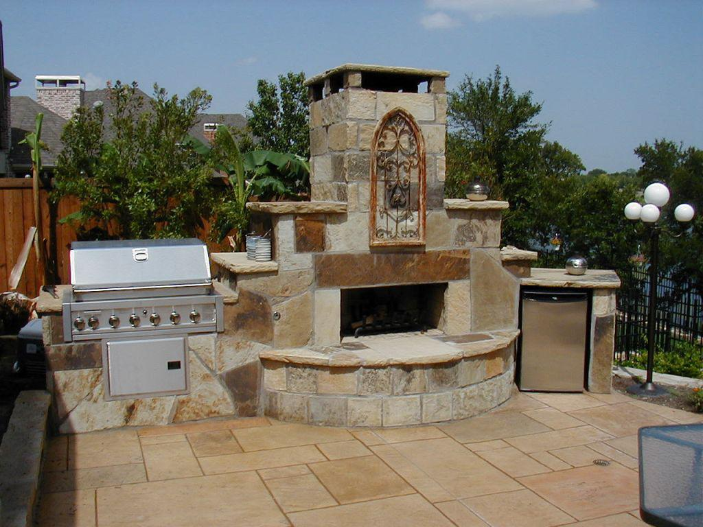 Amazing Cinder Block Outdoor Fireplace
