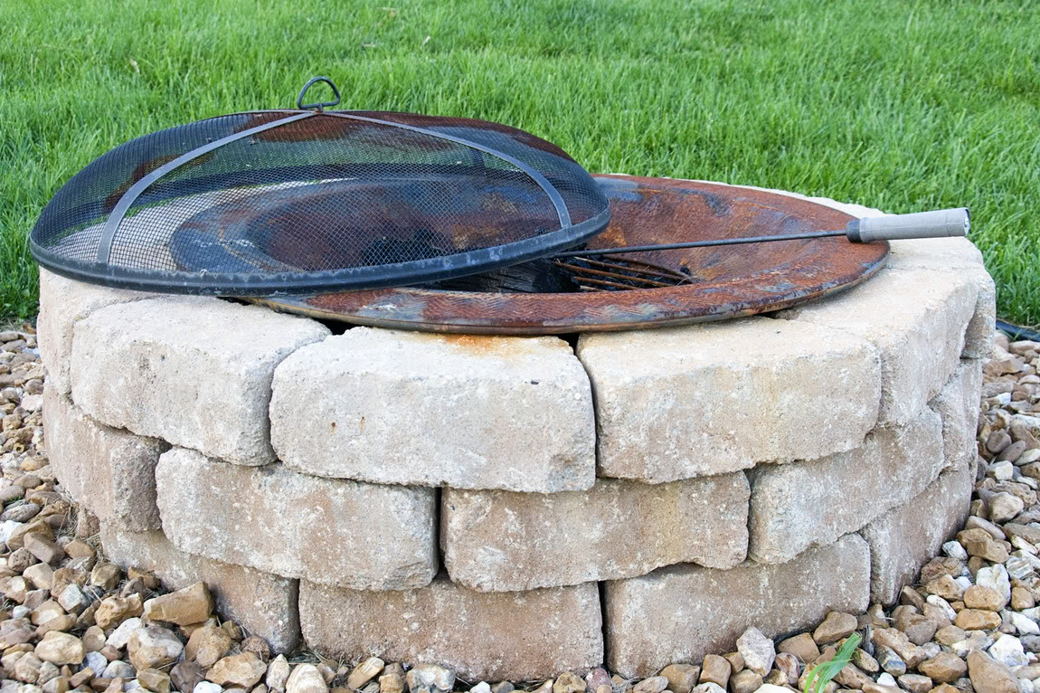 Awesome Outdoor Stone Fire Pit