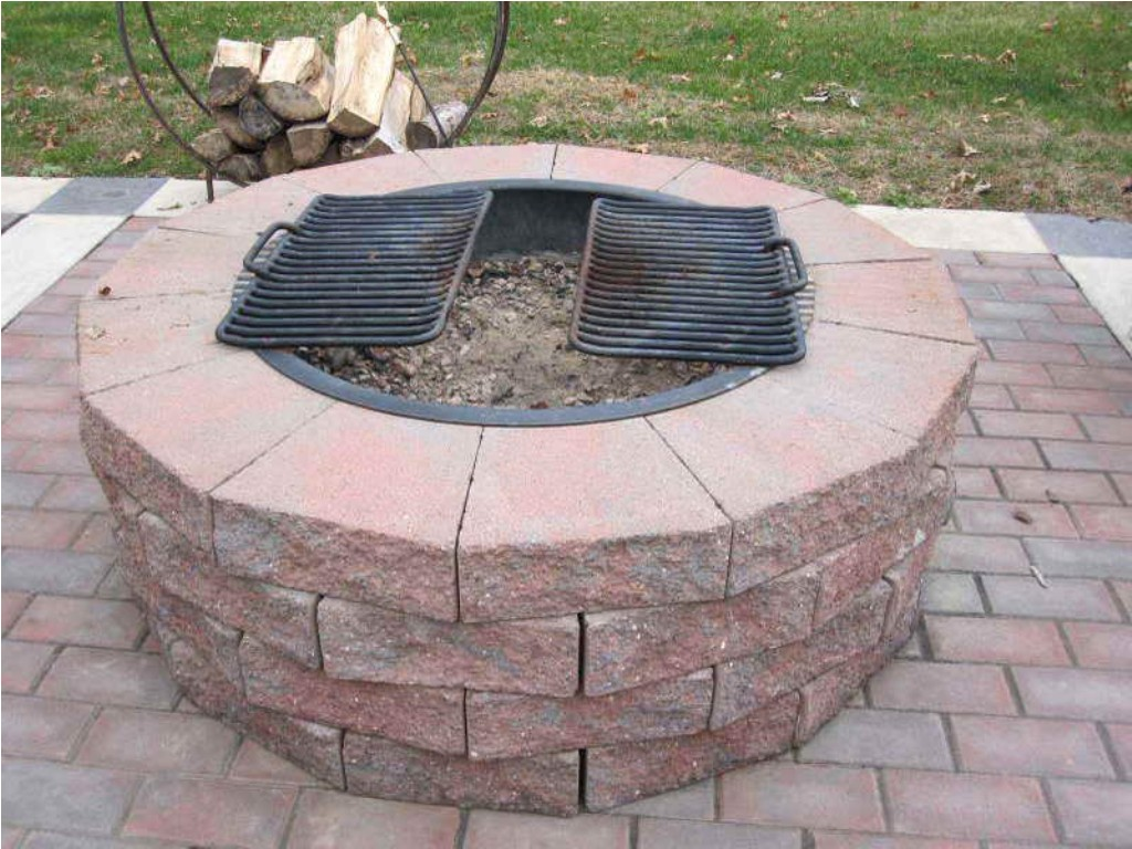 Brick Outdoor Fire Pit Grill
