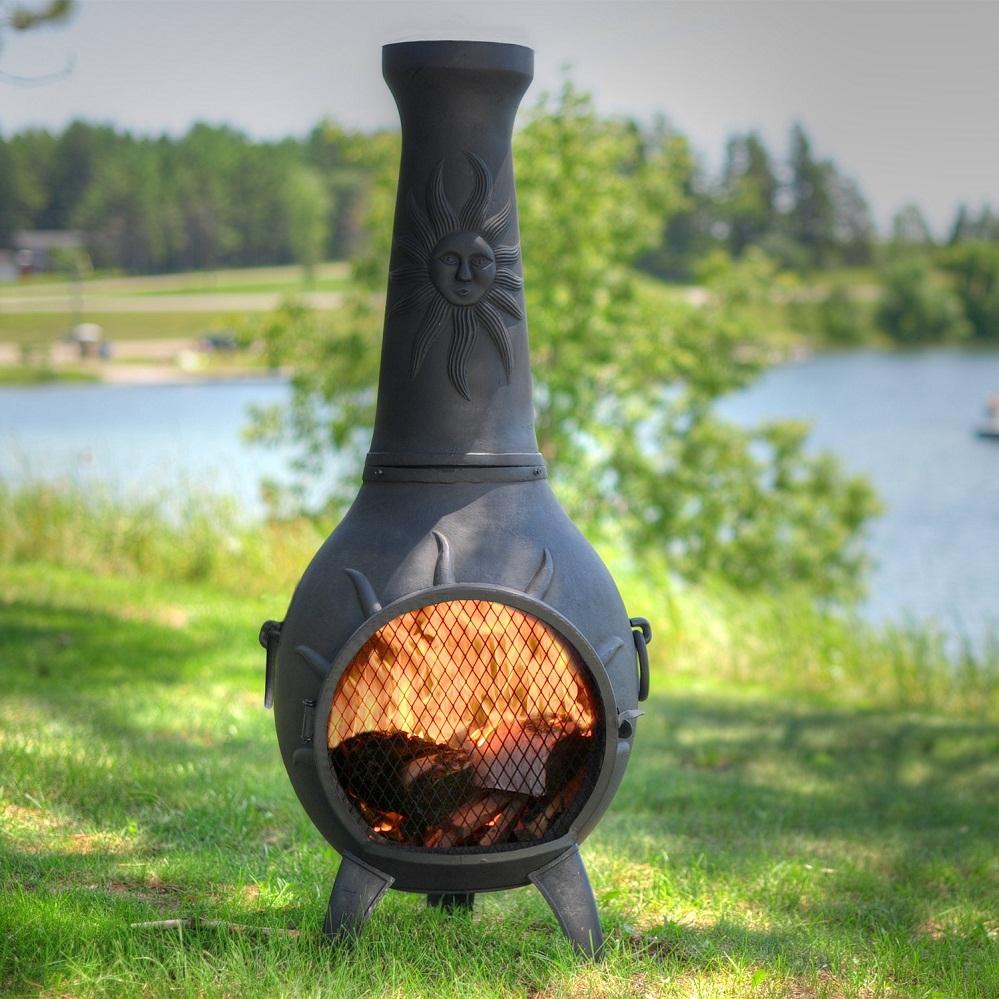 Chiminea Clay Outdoor Fireplace Design Rickyhil Outdoor Ideas