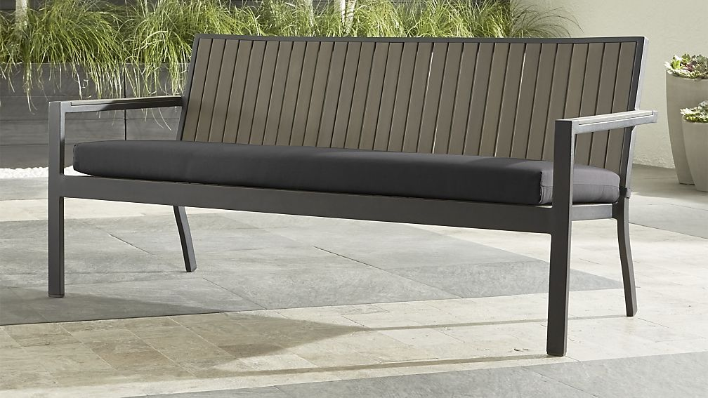Contemporary Outdoor Bench With Cushion
