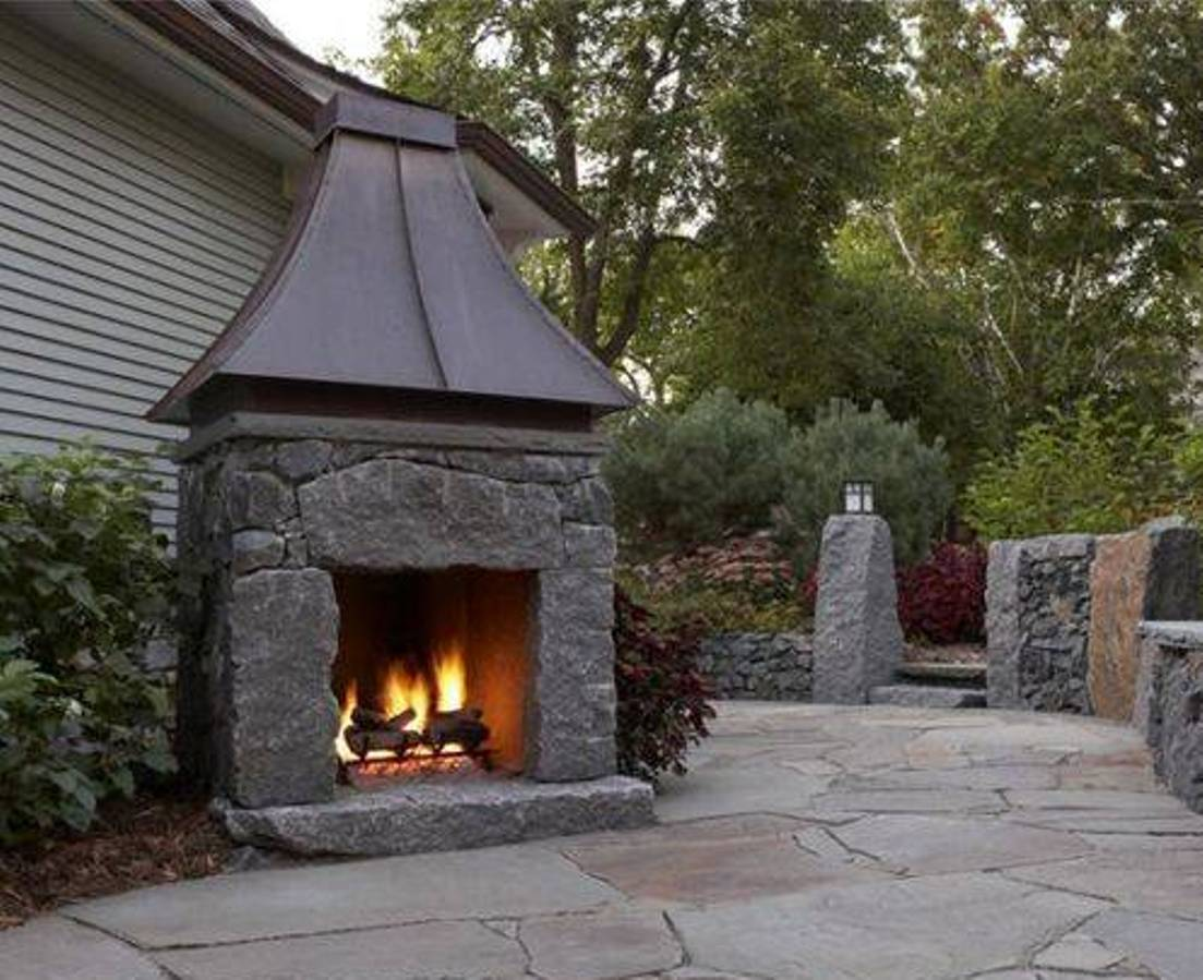 Affordable Outdoor Metal Fireplace Rickyhil Outdoor Ideas