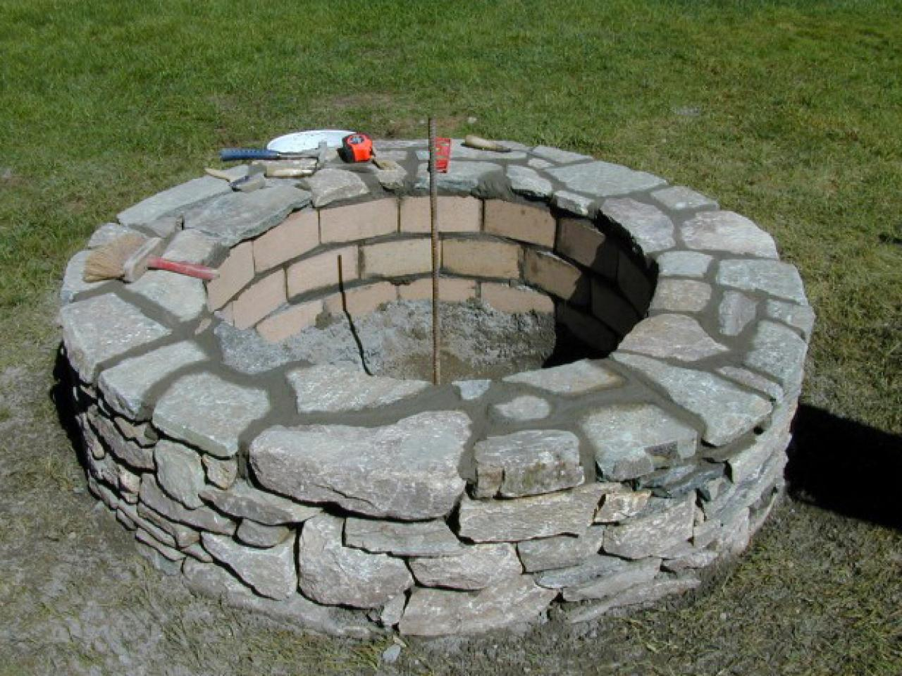 Excellent Outdoor Stone Fire Pit