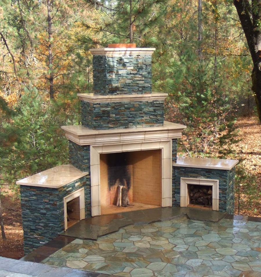 Good Cinder Block Outdoor Fireplace