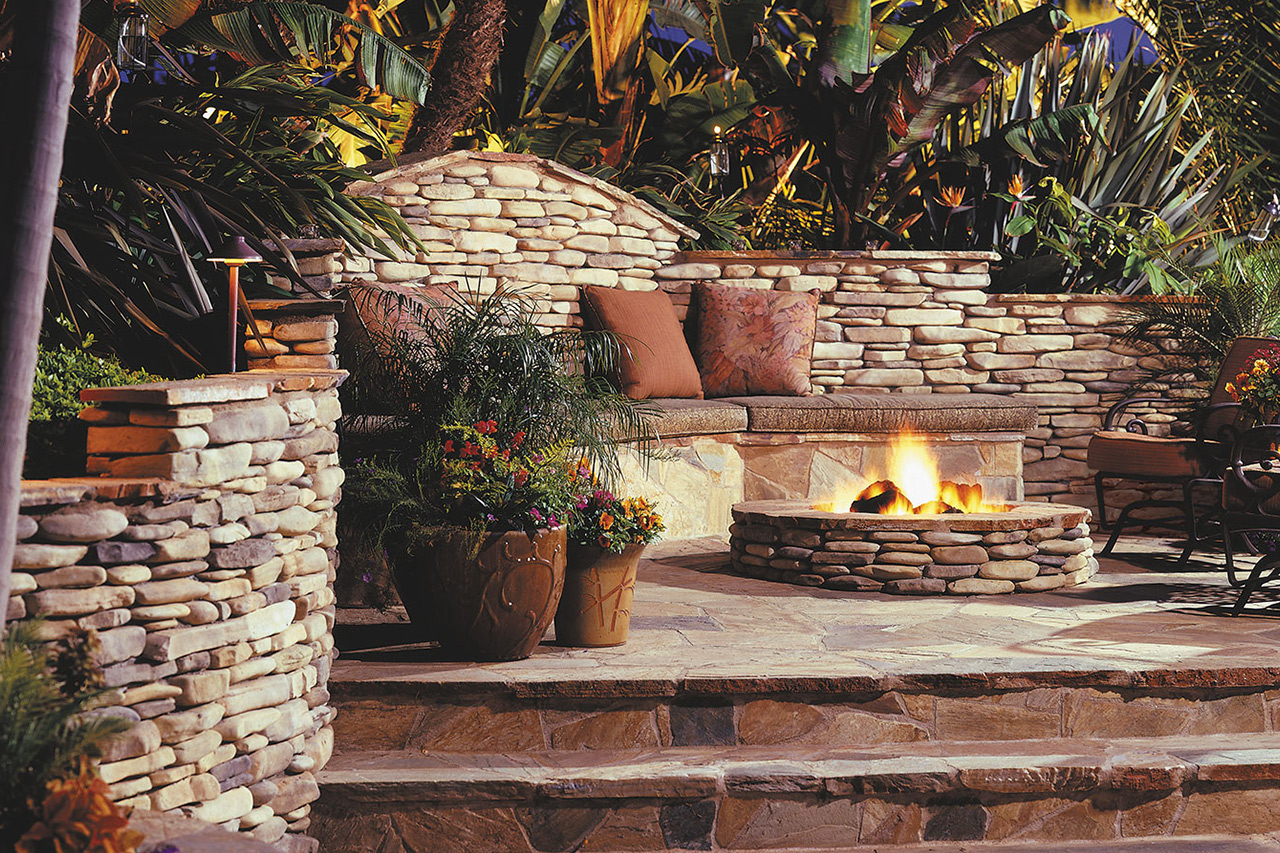 Great Outdoor Stone Fire Pit