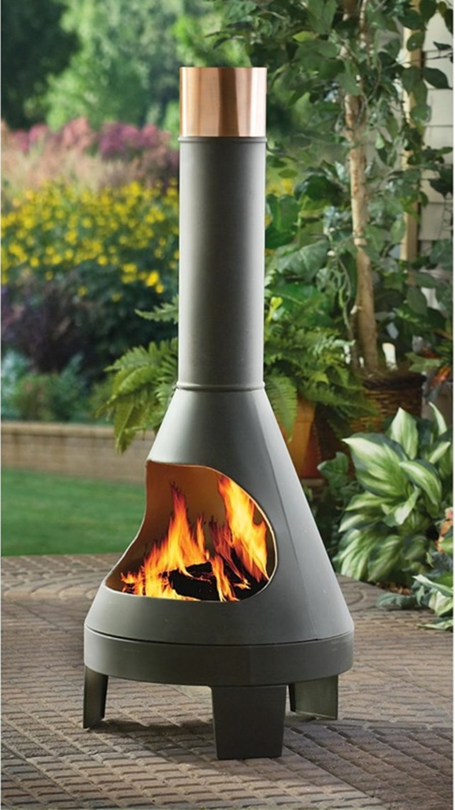 Modern Chiminea Outdoor Fireplace