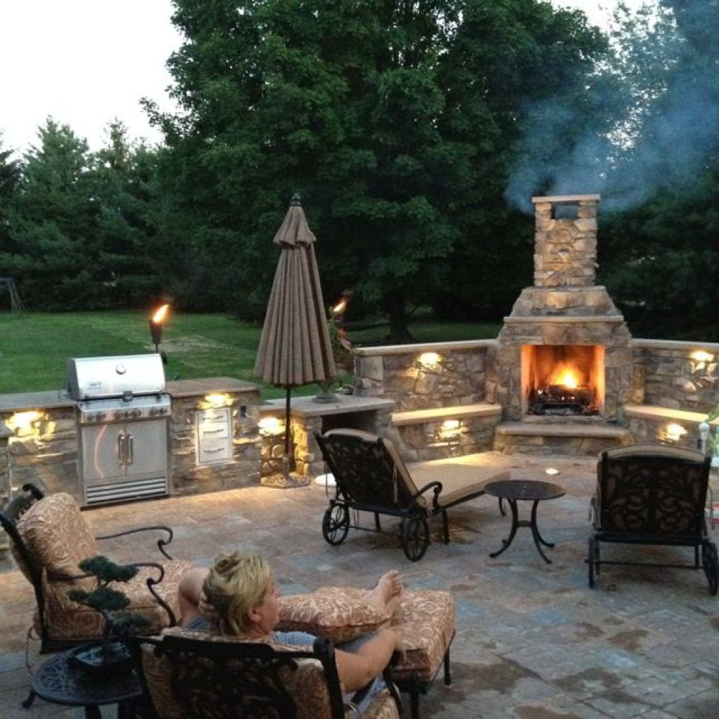 Outdoor Fireplace With Chimney Themed Rickyhil Outdoor Ideas