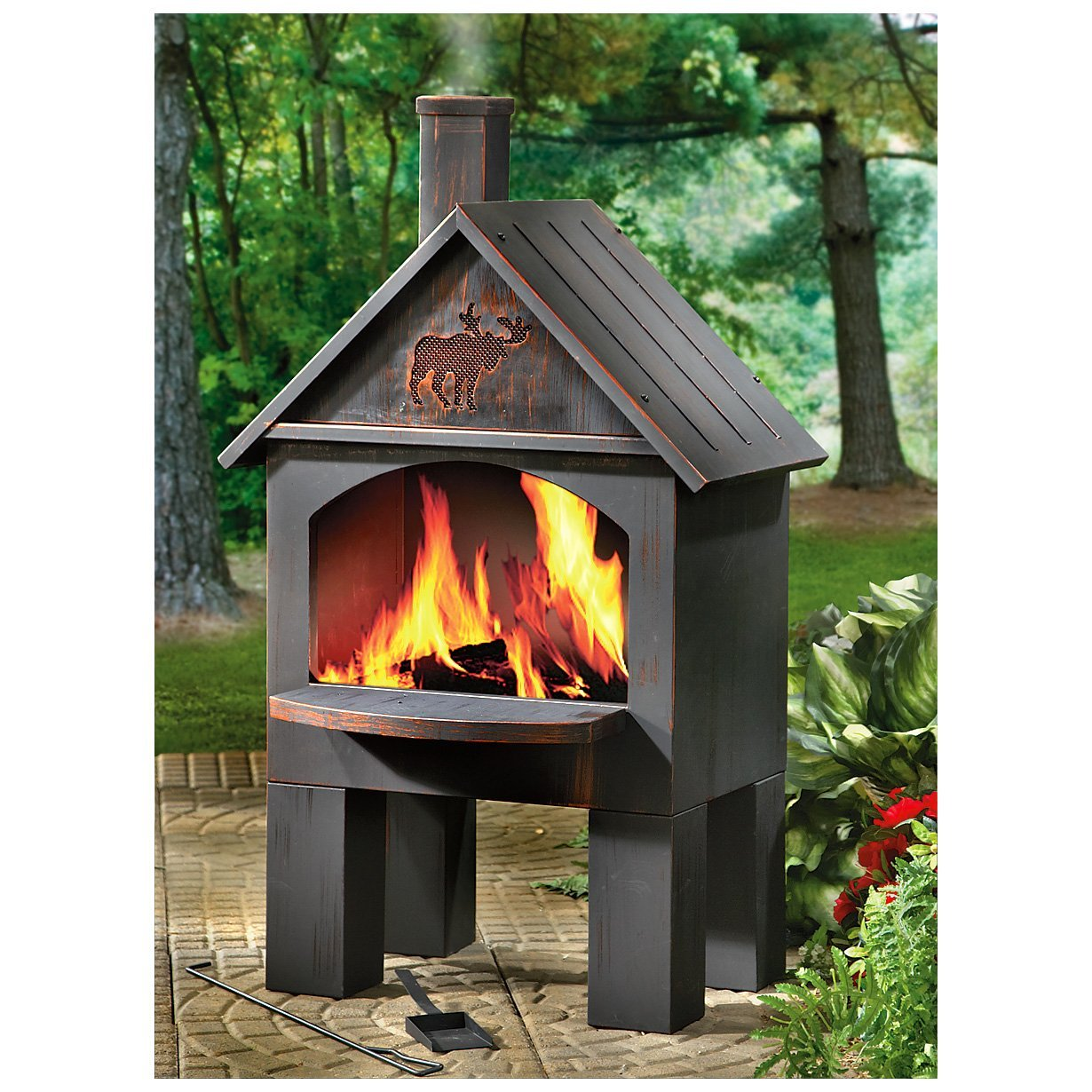 Affordable Outdoor Metal Fireplace — Rickyhil Outdoor Ideas on Quillen Steel Outdoor Fireplace id=70189