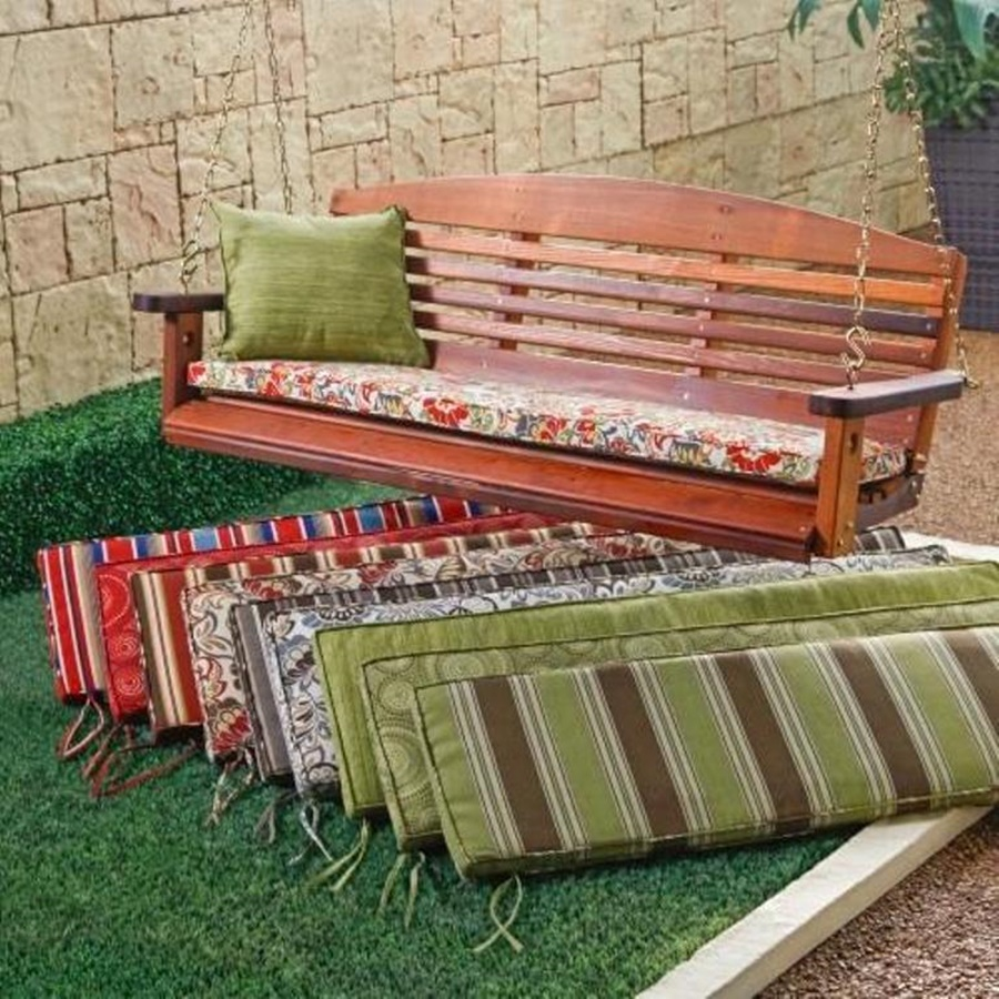 Pretty Outdoor Swing Cushions With Backs