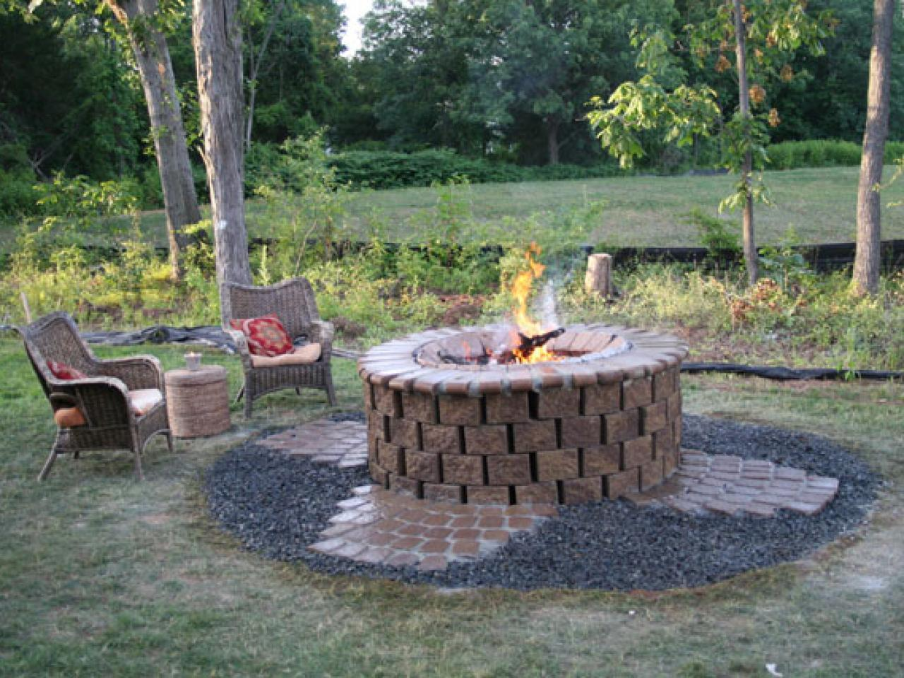 Rustic Outdoor Stone Fire Pit