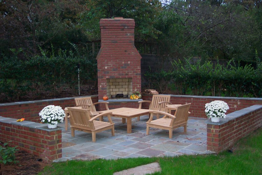Style Cinder Block Outdoor Fireplace