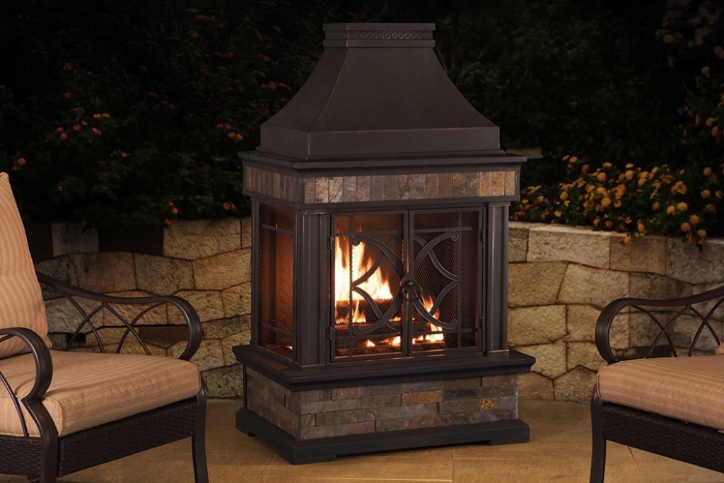 Sunjoy Outdoor Fireplace