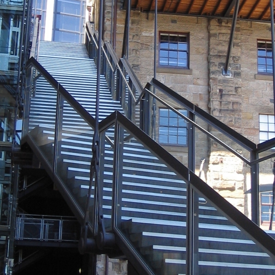 Classy Outdoor Stair Railing
