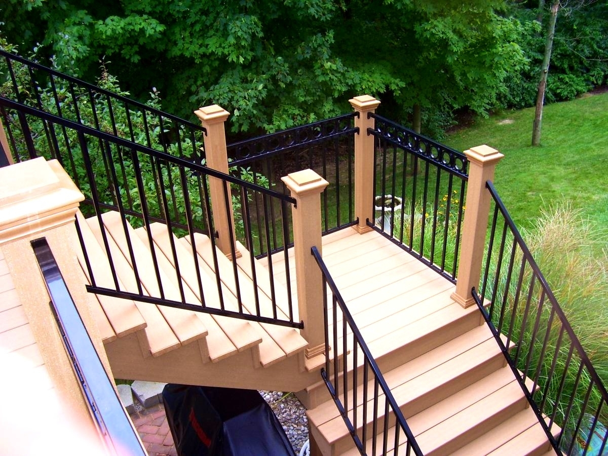 Graceful Outdoor Stair Railing