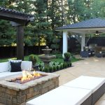 Home Decor Cool Outdoor Patio Ideas With Rectangle Fire Pit