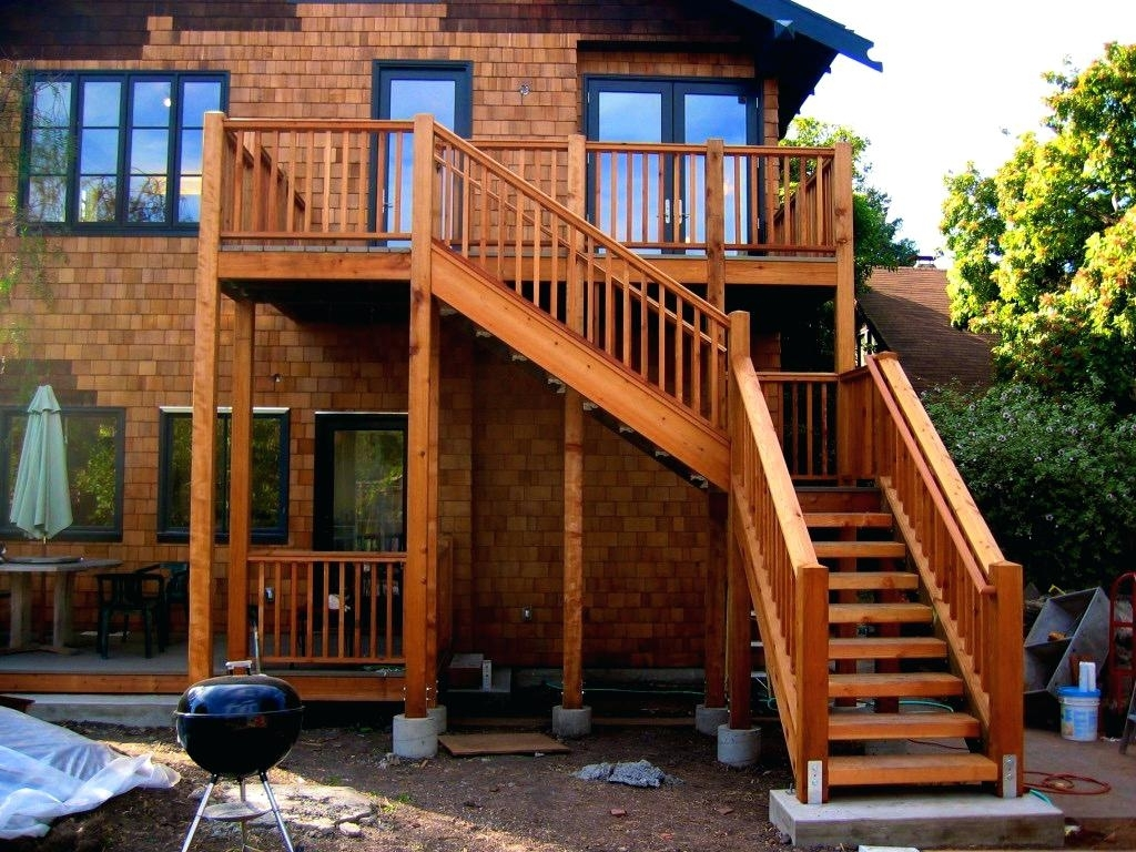 New Outdoor Stair Railing