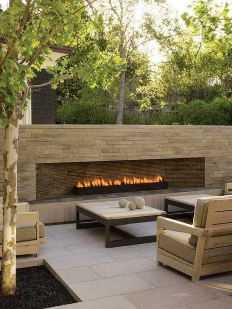 Beauty Of Outdoor Gas Fireplace — Rickyhil Outdoor Ideas on Outdoor Gas Fireplace For Deck id=46465