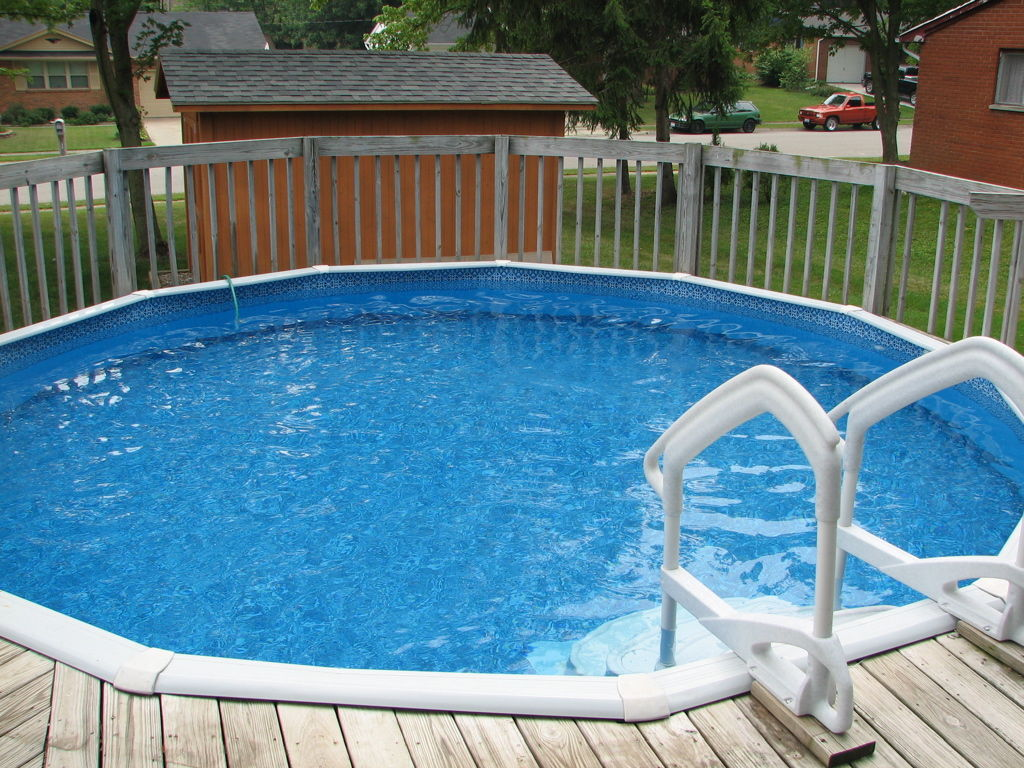 Above Ground Swimming Pool Steps For Above Ground Pools : Rickyhil ...