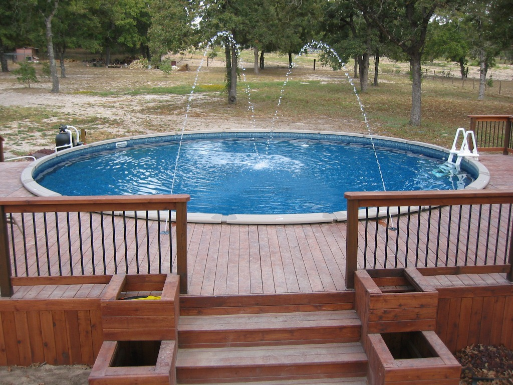 Above Ground Swimming Pool Steps For In Ground Pool : Rickyhil ...
