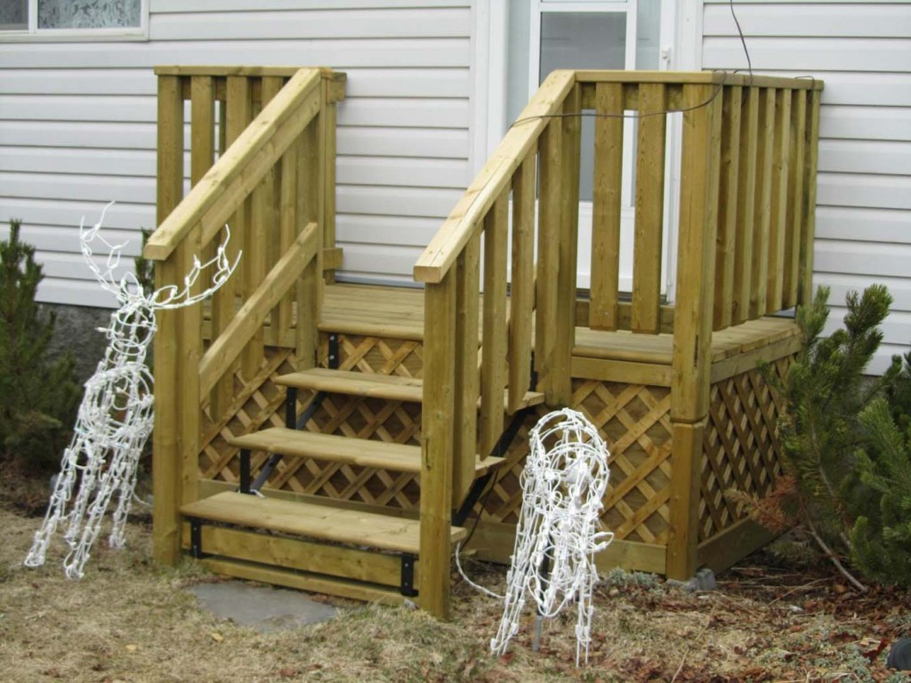 Simple Designs Deck Stair Handrail — Rickyhil Outdoor Ideas