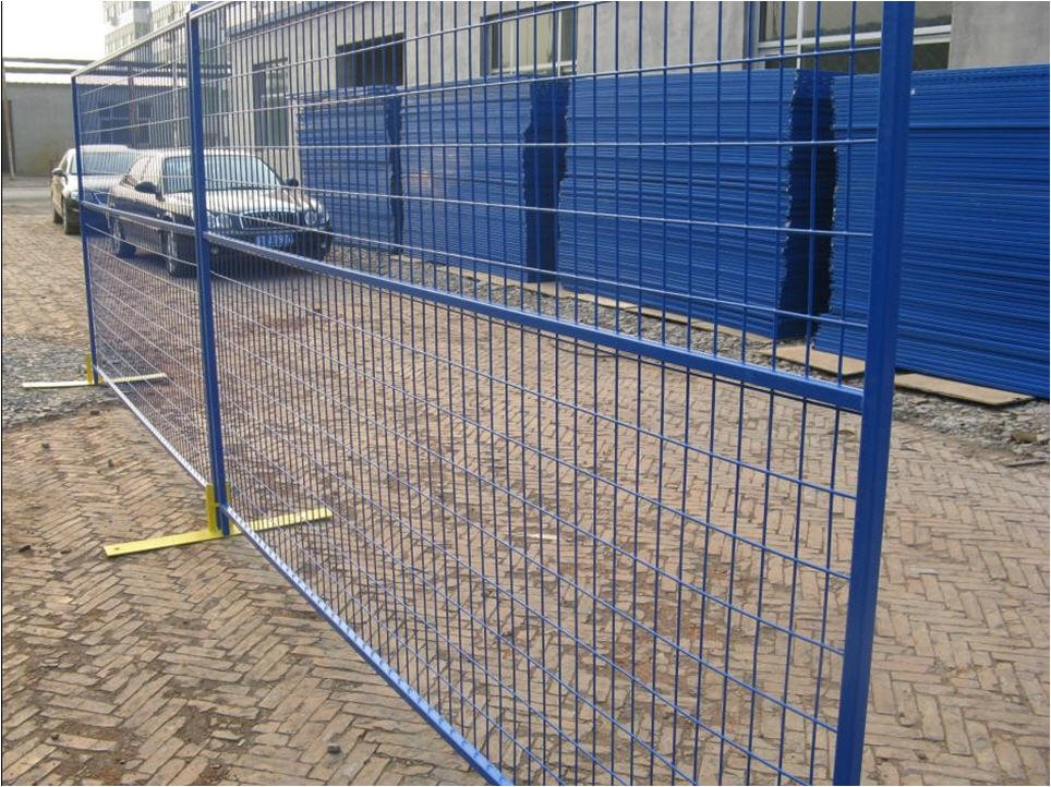 Blue Temporary Fence Panels